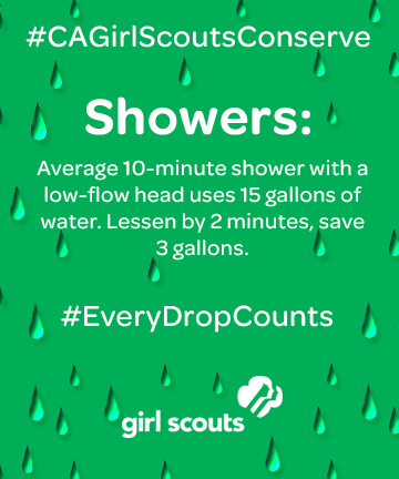 CA conserve shower